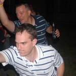Dan Holmes and Erik Hoskins play Wii Bowling