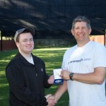 Match Director Joe Graf presents Brian Jylkka with the NRA Silver Medallion