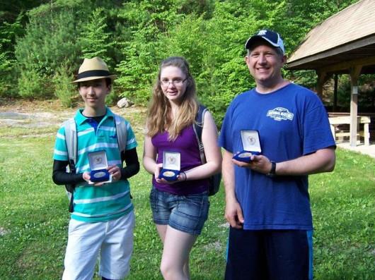 RI Metric 3P Regional medalist, left to right Brendan Whitaker (Silver), Mackenzie Martin (Gold), Joe Graf (Bronze)